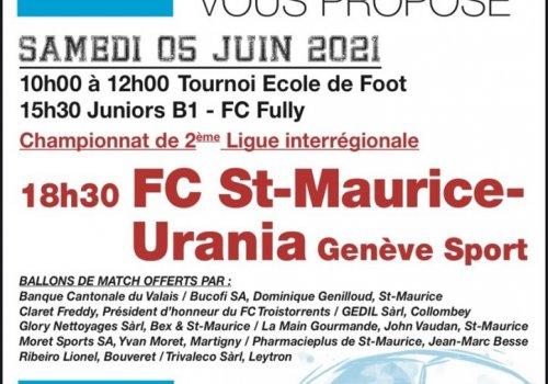 Matchs du 05.06.2021