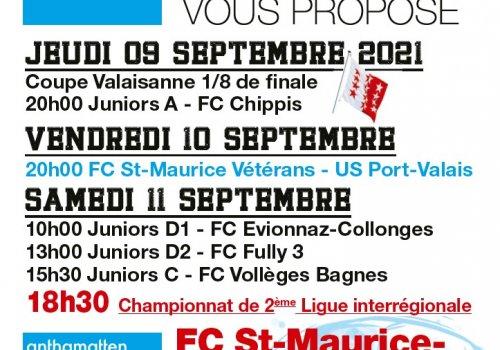 Matchs du 09 au 12.09.2021