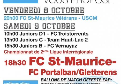 Matchs du 08 au 10.10.2021
